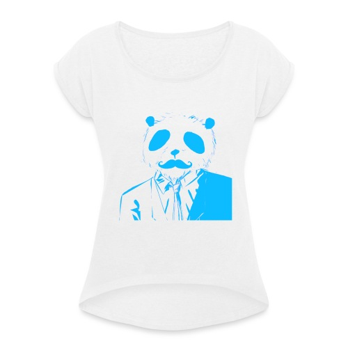 BluePanda Logo - Women's T-Shirt with rolled up sleeves