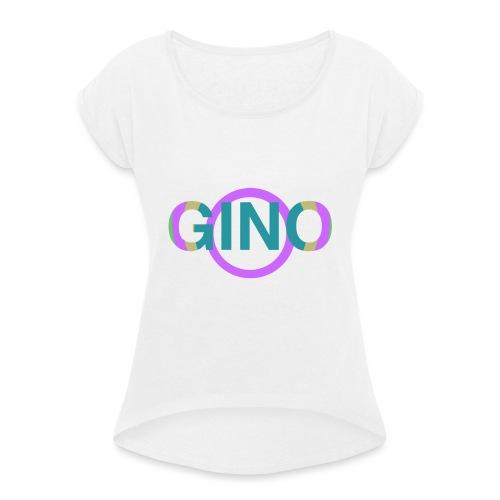 Gino - Vrouwen T-shirt met opgerolde mouwen