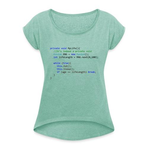 My Life C# - Maglietta da donna con risvolti