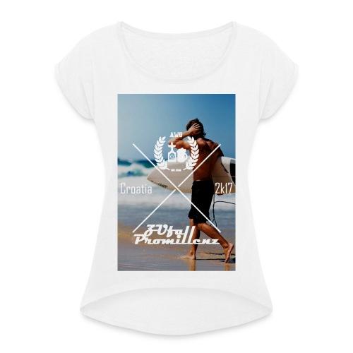 AWG X ZUfall Promillenz W - Frauen T-Shirt mit gerollten Ärmeln