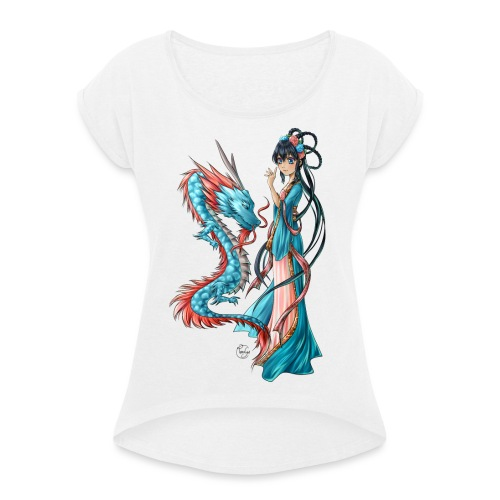 Blue Dragon - T-shirt à manches retroussées Femme