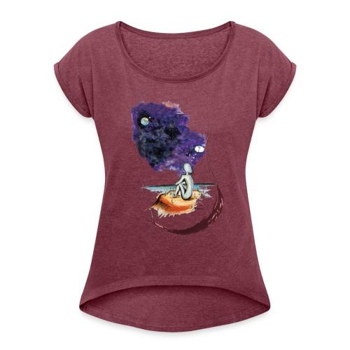 Extraterrestre en contemplation - T-shirt à manches retroussées Femme