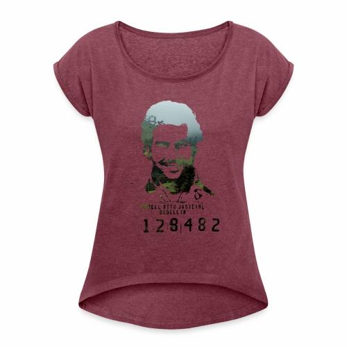 Pablo Escobar - Regenwald in Kolumbien - Frauen T-Shirt mit gerollten Ärmeln