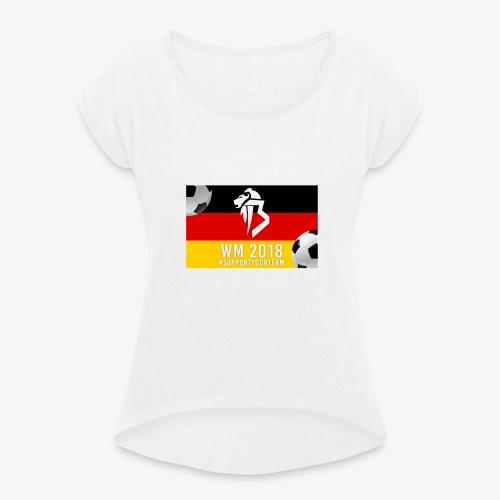 BaNg Logo + Bälle - Frauen T-Shirt mit gerollten Ärmeln