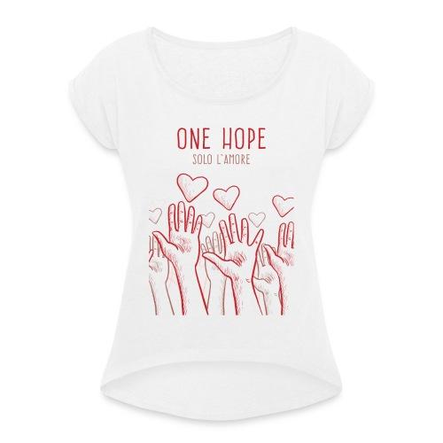 solo l'amore - Maglietta da donna con risvolti