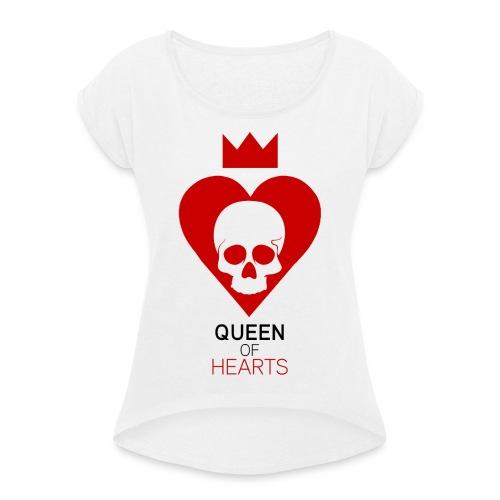 Tee shirt manches longues Reine des Coeurs - T-shirt à manches retroussées Femme