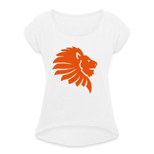loewe klein - Frauen T-Shirt mit gerollten Ärmeln