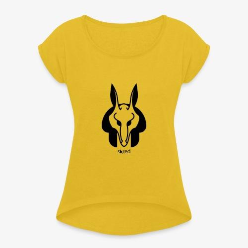 Anubi Soggetto1 - Maglietta da donna con risvolti
