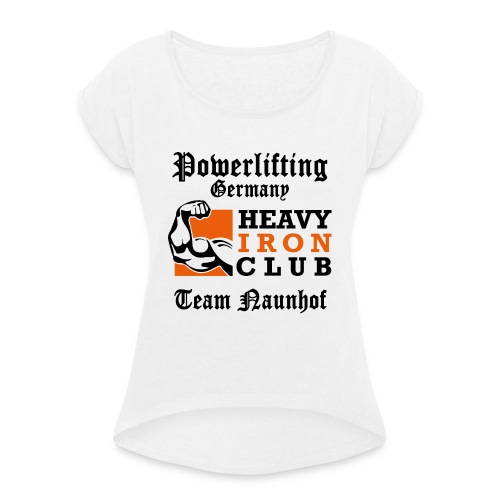 Heavy Iron Club Team-Logo für hellen Untergrund - Frauen T-Shirt mit gerollten Ärmeln