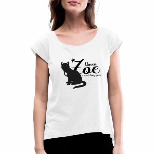 zoe3queen - Frauen T-Shirt mit gerollten Ärmeln