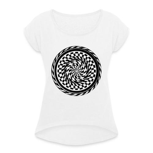 skacore - Frauen T-Shirt mit gerollten Ärmeln