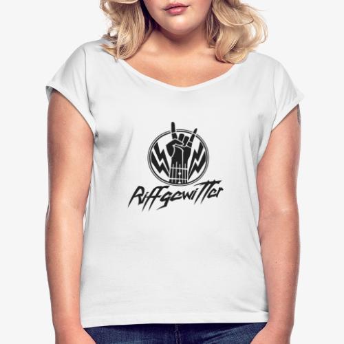 Riffgewitter - Hard Rock und Heavy Metal - Frauen T-Shirt mit gerollten Ärmeln