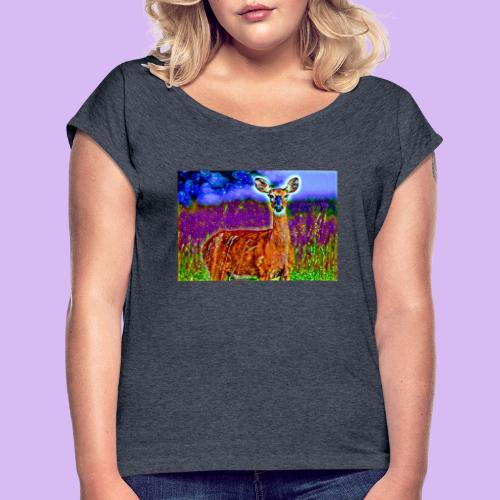 Cerbiatto con magici effetti - Maglietta da donna con risvolti
