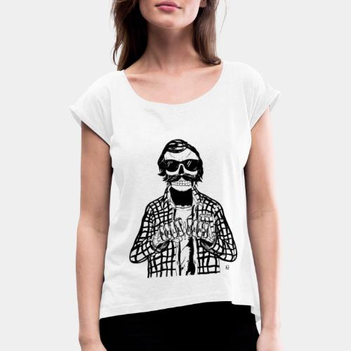 HELL YEAH - Women's T-Shirt with rolled up sleeves