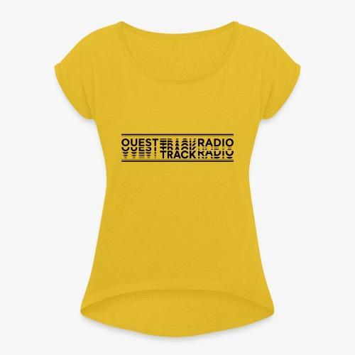 Logo Long noir - T-shirt à manches retroussées Femme