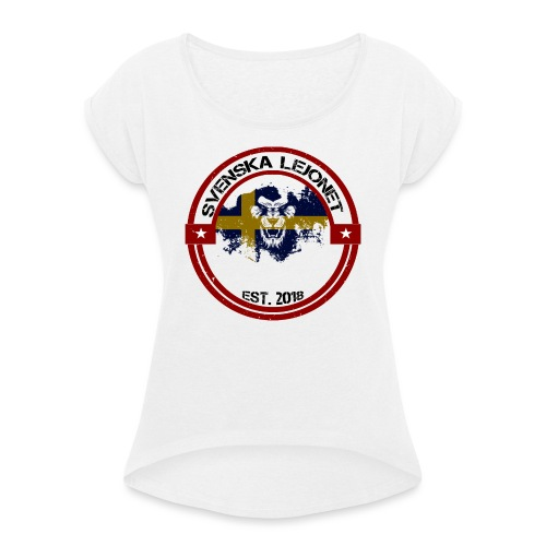 Svenska Lejonet EST 2018 - T-shirt med upprullade ärmar dam