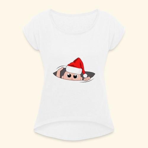 Baby Nikolaus - Frauen T-Shirt mit gerollten Ärmeln