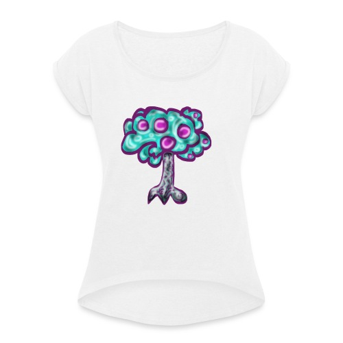 Neon Tree - Women's T-Shirt with rolled up sleeves