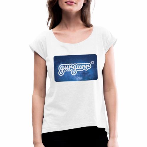 Space Pigeon - Frauen T-Shirt mit gerollten Ärmeln