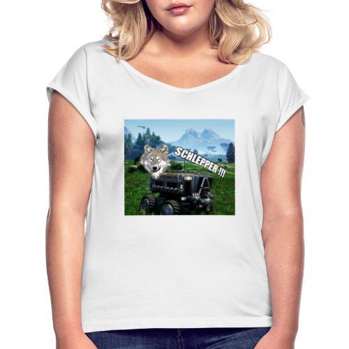 Schlepper Serie V1.1 - Frauen T-Shirt mit gerollten Ärmeln