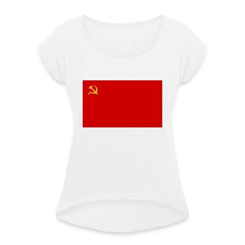 Eipä kestä - Naisten T-paita, jossa rullatut hihat