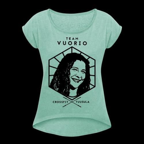 Vuorio WW 18 - Naisten T-paita, jossa rullatut hihat