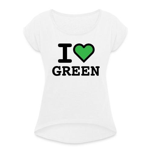 i-love-green-2.png - Maglietta da donna con risvolti