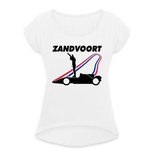 Zandvoort rood wit blauw - Vrouwen T-shirt met opgerolde mouwen