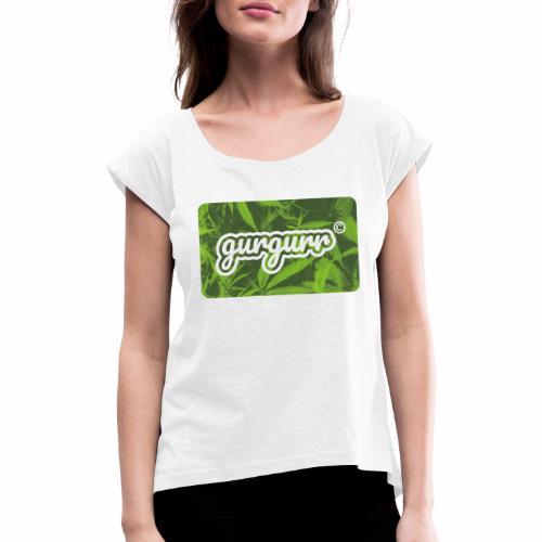 Hemp Pigeon - Frauen T-Shirt mit gerollten Ärmeln
