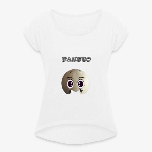 FAUSTOSHIIRT - Maglietta da donna con risvolti