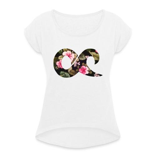 hawaiichilled - Frauen T-Shirt mit gerollten Ärmeln