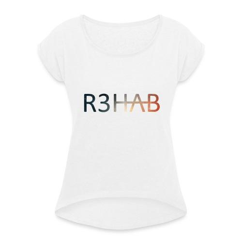 R3hab Stars - T-skjorte med rulleermer for kvinner