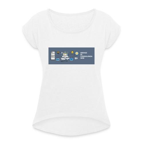 banner - Maglietta da donna con risvolti