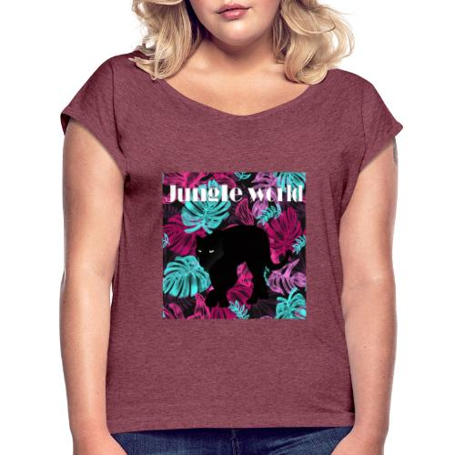 Jungle world panthere c - T-shirt à manches retroussées Femme