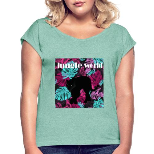 Jungle world panthere c - T-shirt à manches retroussées Femme