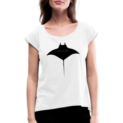 Djevelskate - T-skjorte med rulleermer for kvinner
