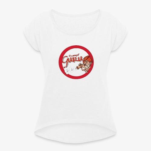 Dampf Guru Logo - Frauen T-Shirt mit gerollten Ärmeln