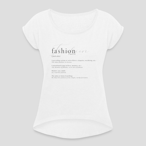 FASHION DICTIONARY - Maglietta da donna con risvolti