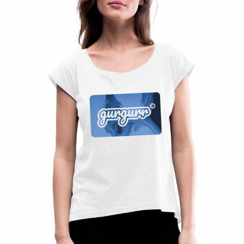 Ice Pigeon - Frauen T-Shirt mit gerollten Ärmeln