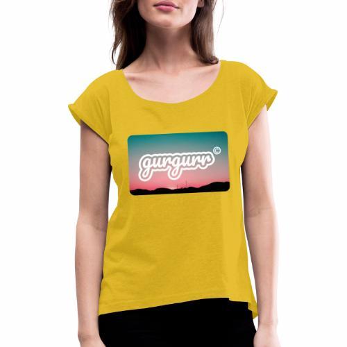 Kitschy Pigeon - Frauen T-Shirt mit gerollten Ärmeln
