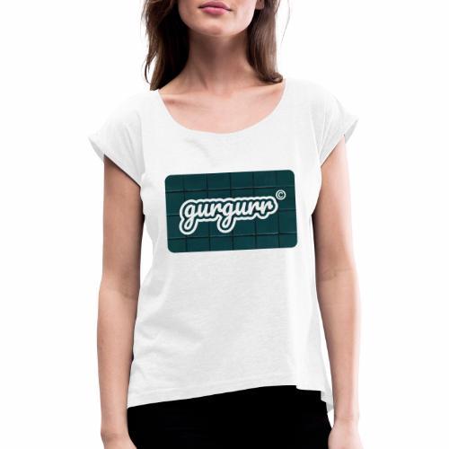 Tiler Pigeon - Frauen T-Shirt mit gerollten Ärmeln