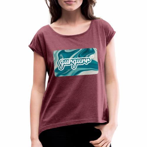 Flow Pigeon - Frauen T-Shirt mit gerollten Ärmeln