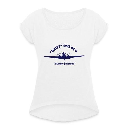 Daisy front silhouette 1 - T-shirt med upprullade ärmar dam