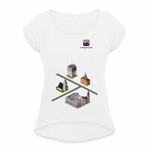 Raumagame mix for white/pale bg - Naisten T-paita, jossa rullatut hihat