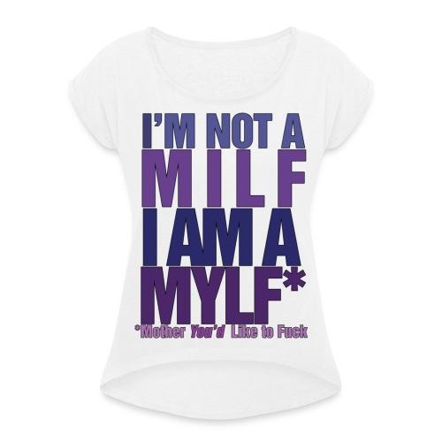 MYLF - T-skjorte med rulleermer for kvinner