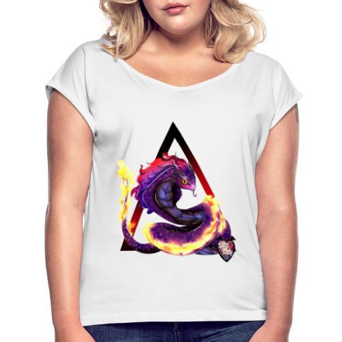 snake - T-shirt à manches retroussées Femme
