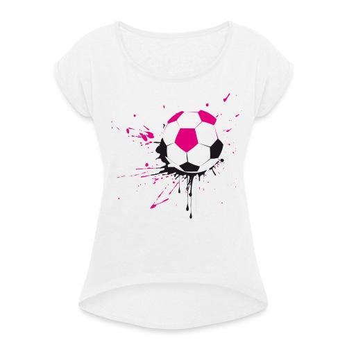 I love soccer - Maglietta da donna con risvolti