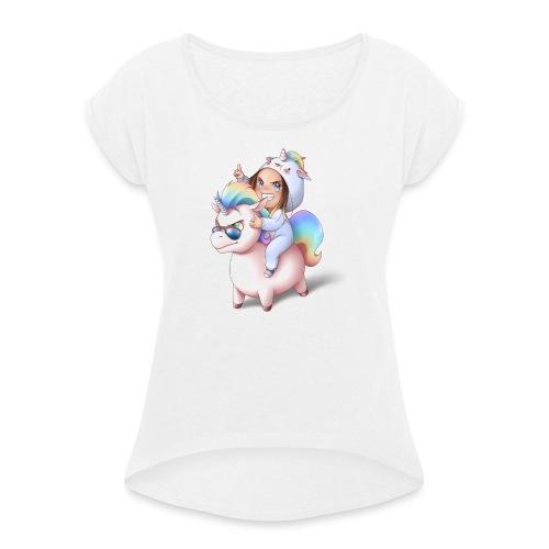 Ella und Egon - Frauen T-Shirt mit gerollten Ärmeln
