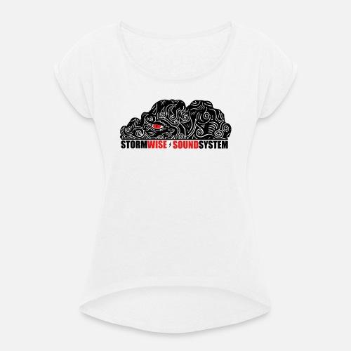 stormwise logo rectangle - T-shirt à manches retroussées Femme