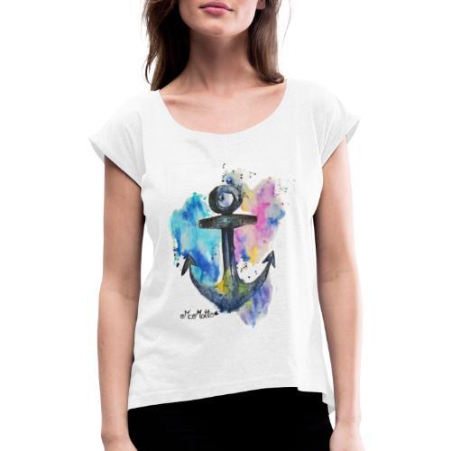 McMotte Ankershirt First Style - Frauen T-Shirt mit gerollten Ärmeln